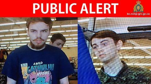 Der Fahndungsaufruf der Royal Canadian Mounted Police zeigt die beiden gesuchten Tatverdächtigen