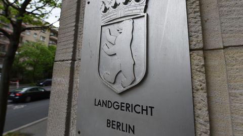 Ein Schild des Landgerichts Berlin