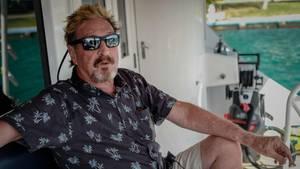 John McAfee bei einem Interview im Juni 2019 in Kuba