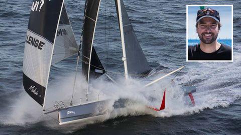 Hochseesegler Boris Herrmann und sein Boot Malizia II