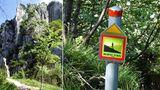 """Der Scenic Trail führt um die Denti della Vecchia, die """"Zähneder Alten"""", herum"""