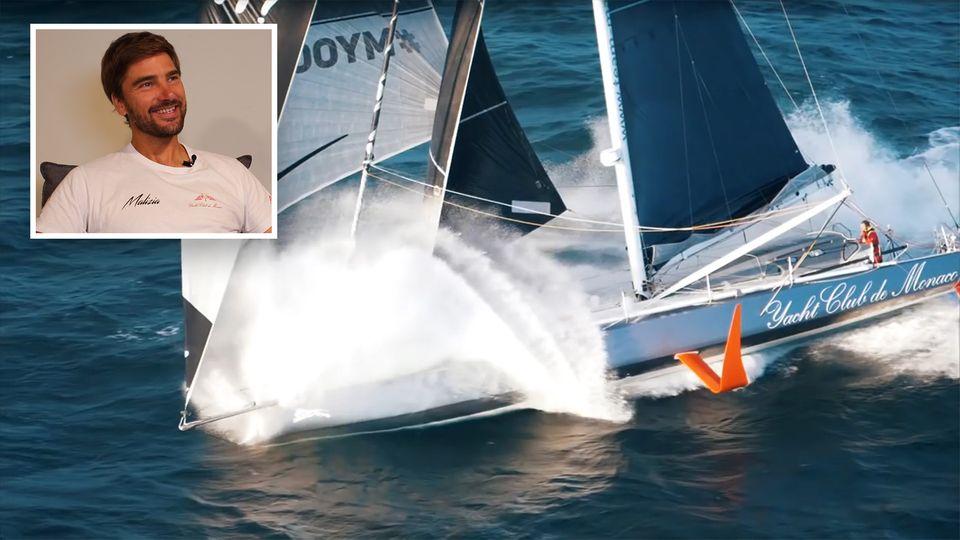 Mit diesem Schiff will Greta Thunberg den Atlantik überqueren. Sie fährt mit Profisegler Boris Herrmann übers Meer.