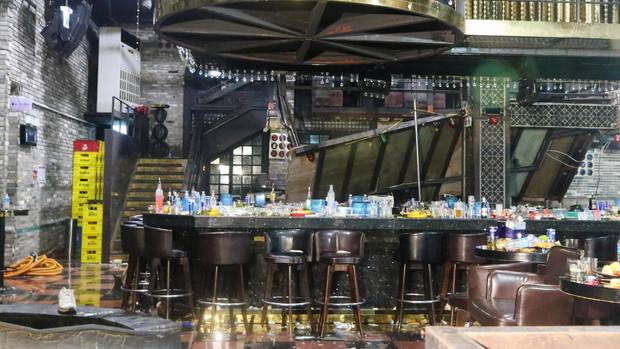 """Gwangju: Der Nachtclub """"Coyote Ugly"""" nachdem ein Balkon eingestürzt ist"""
