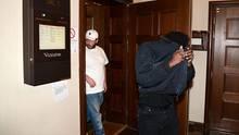 ASAP Rocky verlässt nach einer Anhörung ein Gericht in Stockholm