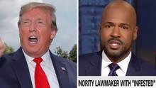 US-Präsident Donald Trump, CNN-Moderator Victor Blackwell