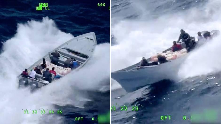US-Küstenwache verfolgt mutmaßliche Schmuggler