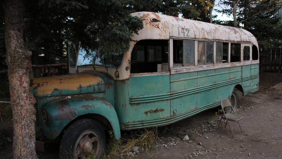 Der Bus, der für den Filmdreh benutzt wurde
