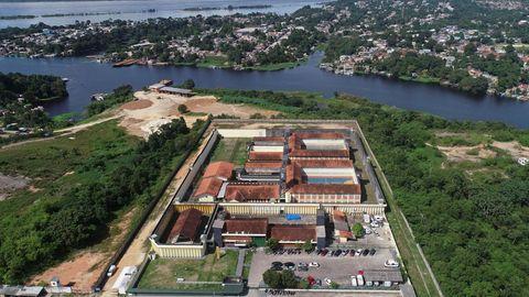 Luftaufnahme des Puraquequara-Gefängnisses in Manaus