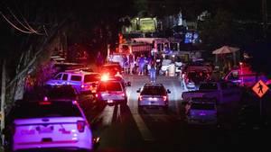 USA, Gilroy: Ermittler arbeiten am Tatort