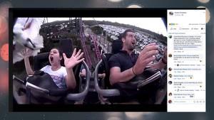Auf der Achterbahn: Junges Mädchen kriegt Vogel ins Gesicht