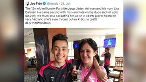 Fortnite Vize-Weltmeister Jaden Ashman