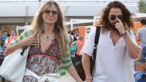 Heidi Klum und Tom Kaulitz bei ihrer Ankunft in Italien