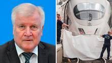 Bundesinnenminister Horst Seehofer, ICE am Frankfurter Hauptbahnhof