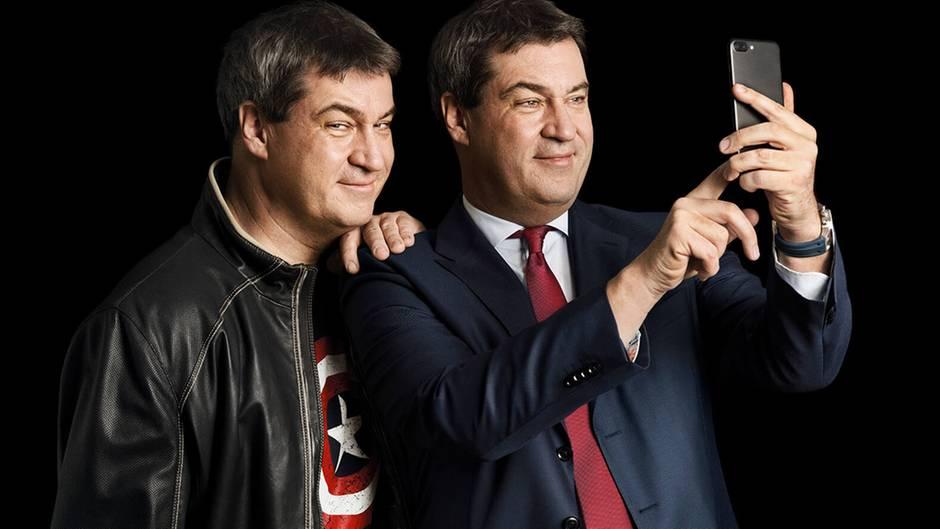 Markus Söder kommt nicht mehr ohne sein Handy zurecht