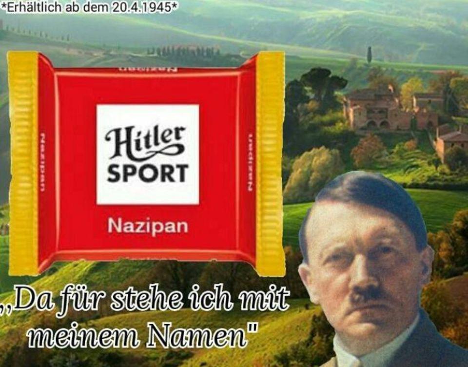 """Bild einer """"Hitler-Sport""""-Schokolade"""