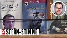 Ein Bücherstand in der Altstadt von Amman. In der Arabischen Weltverehren viele immer noch Adolf Hitler.
