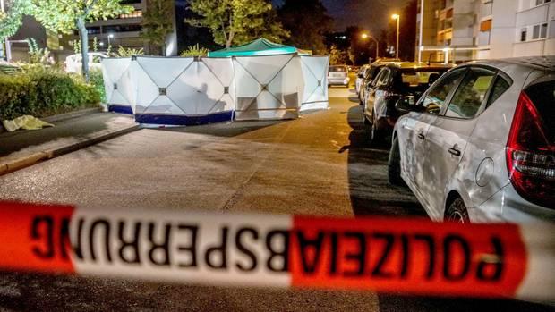 Tatort des Schwertangriffs in Stuttgart