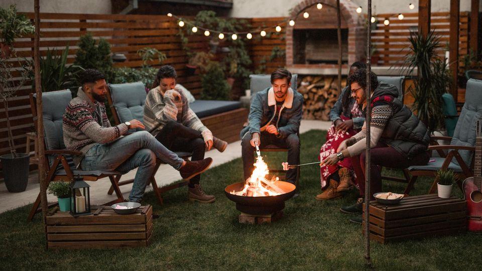 Ein beliebtes Garten-Geschenk: die Feuerschale