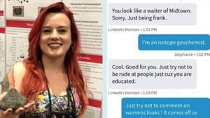 Wissenschaftlerin Stephanie und die sexistischen Textnachrichten