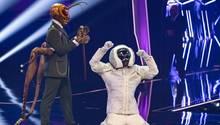 """Max Mutzke nach dem Sige bei der ProSieben-Show """"The Masked Singer"""""""
