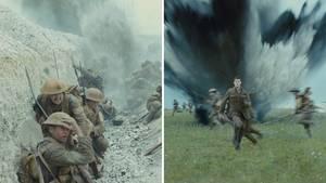 "Szenen aus dem Kriegsfilm ""1917"""