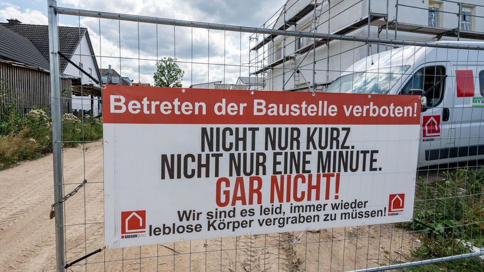 Baustellenschild in Weiden