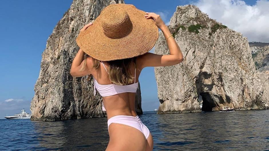 Ann-Kathrin Götze schickt Urlaubsgrüße aus Capri