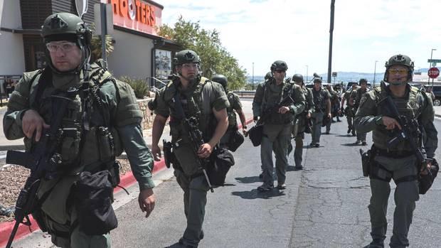 Einsatzkräfte am Tatort in El Pasoim US-Bundesstaat Texas