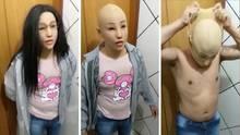 Mit Maske, Perücke, Brille und in Frauenkleidern hat ein Häftling versucht, aus einem Gefängnis in Rio de Janeiro zu entkommen.