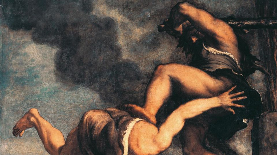 Cain and Abel, Titian (ca 1490–1576). Church of the Salute, Venice