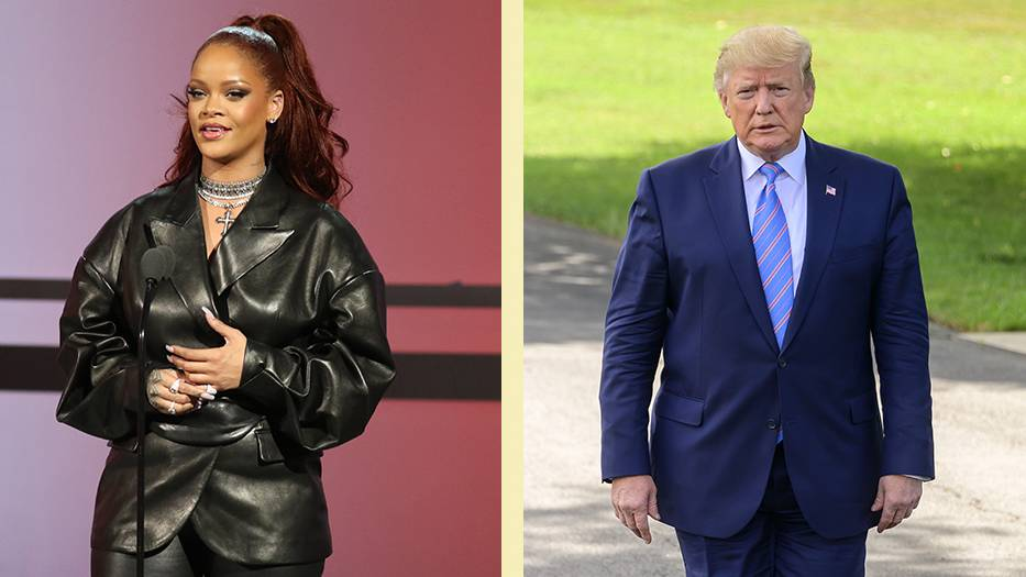 Sängerin Rihanna und US-Präsident Donald Trump