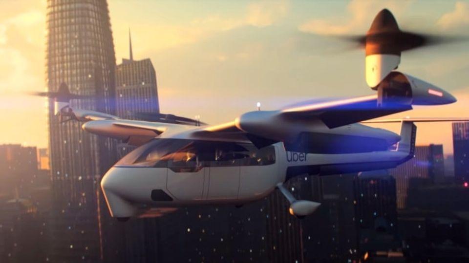 Ein Flugtaxi, wie Uber es sich vorstellt