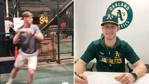 """Oakland Athletics: Amateur wirft bei """"Pitch Challenge"""" – jetzt hat er einen Profi-Vertrag"""