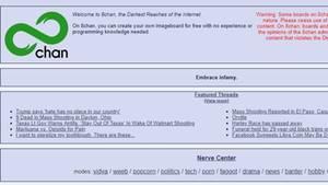"""Die Startseite des umstrittenen Online-Forums """"8chan"""""""
