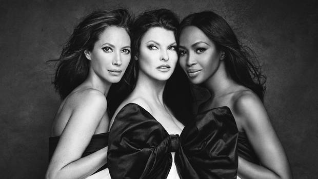 Christy Turlington, Linda Evangelista und Naomi Campbell