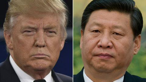 Erbitterte Feinde im Handelskrieg: US-Präsident Donald Trump und Chinas StaatschefXi Jinping (r.)