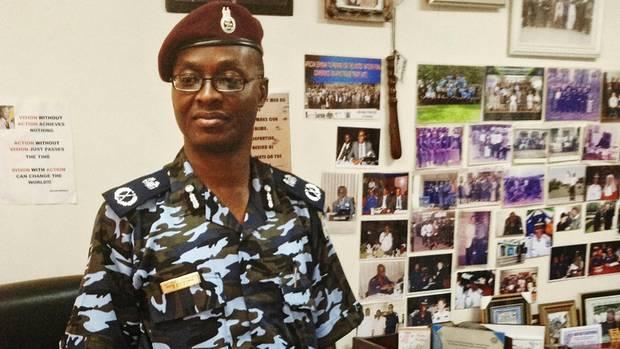 Al Shek Kamara Polizist aus Sierra Leone