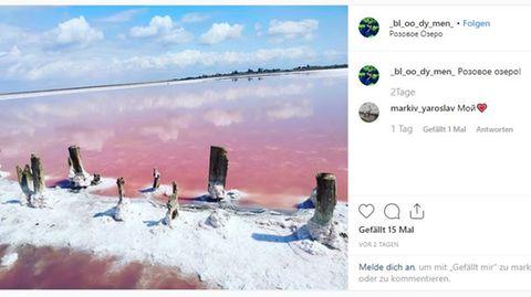 Rosafarbener See