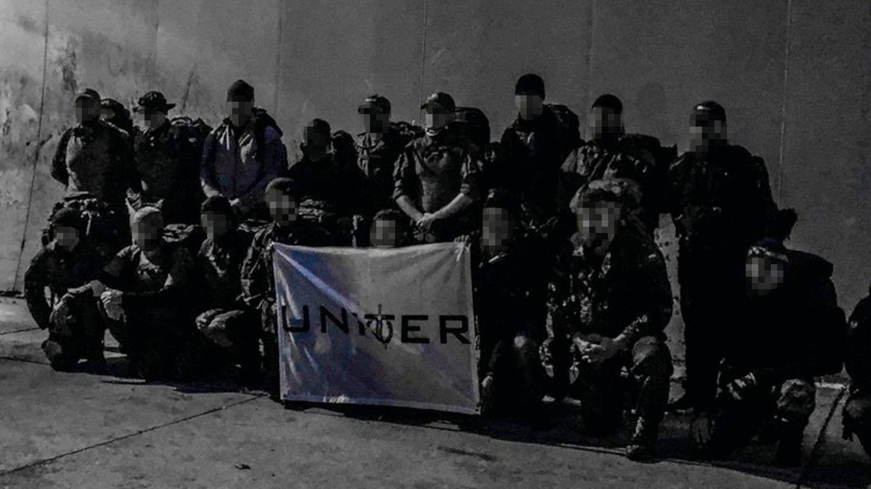 Uniter-Mitglieder nach einer Übung im Oktober 2018 im badischen Mosbach
