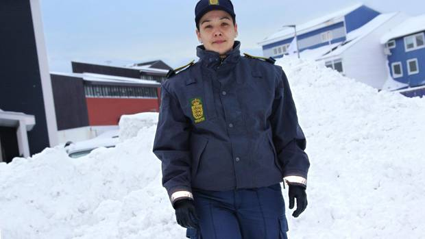 Laila Thomassen Fleischer ist Polizistin in Nuuk, Grönland