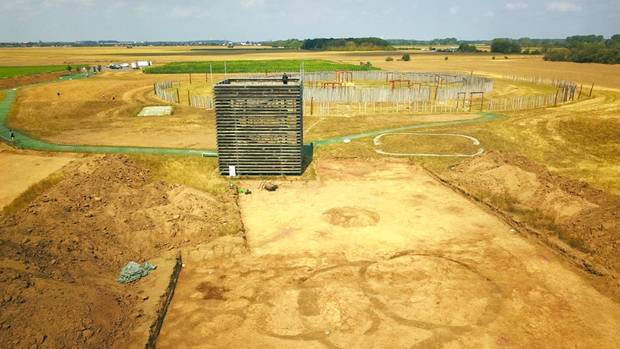 Die Ausgrabungsstätte außerhalb des Ringheiligtums