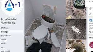 Bei einem Gewitter fliegt einem Paar die Toilette um die Ohren