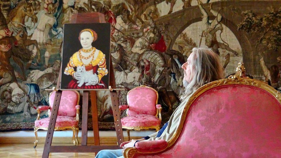 Legale Geschäfte: Für eine TV-Serie porträtierte Beltracchi Fürstin Gloria von Thurn und Taxis – im Stile Lucas Cranachs