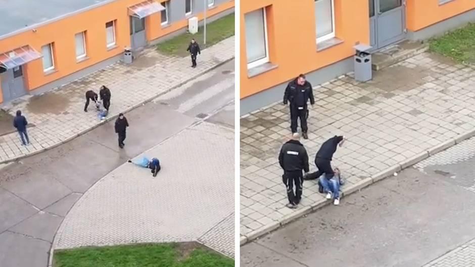 Halberstadt: Wachleute haben Geflüchtete im Camp offenbar misshandelt