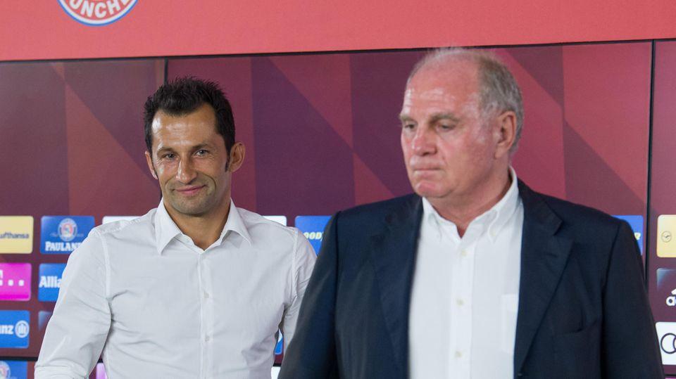 FC Bayern Hasan Salihamidzic und Uli Hoeneß