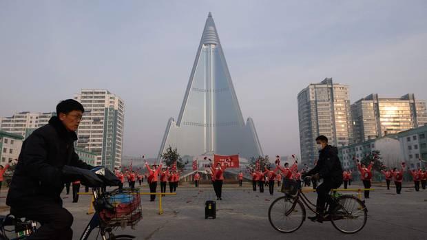 DasRyugyong Hotel in Pjöngjang (Nordkorea)