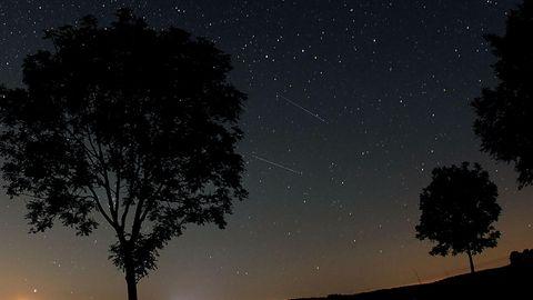 Sternschnuppen der Perseiden im Jahre 2012 in der Eifel.