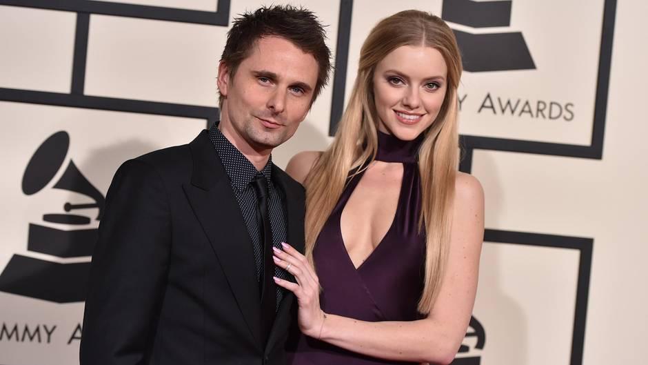 Matt Bellamy und seine Freundin Elle Evans.