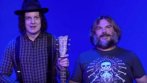 Die Musiker Jack White und Jack Black