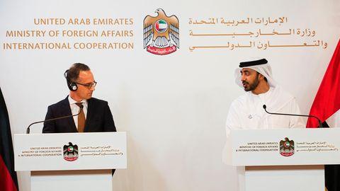 Heiko Maas und Abdullah bin Zayed Al Nahyan